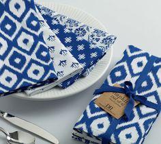 Wholesale - Indigo Prints Napkin - Set of 4 - DII Design Imports - 1