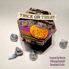 Trick Or Treat Clear Photopolymer Stamp Set Card Sample Halloween Treats, Trick Or Treat, Embossing Powder, Class Ring, Elf, Card Making, Paper Crafts, Crafty, Personalized Items