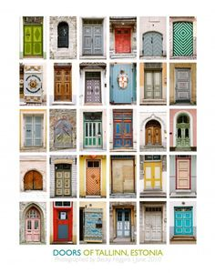 Make a beautiful collection from your trip. Scavenger Hunt #1:  Take a picture of doors, windows, or other basic architecture types in one particular city, like these doors of Tallinn, Estonia.