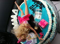 21st birthday cake..oh. theres the fake barf. perfect!! lol @Iris Loos Loos Loos Hurley @Mesa Demeritt-Herman Demeritt-Herman Demeritt-Herman McGonigle Watson too funny!