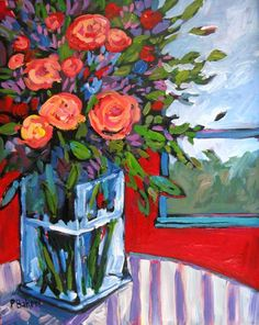 Still Life with Roses IX by Patty Baker