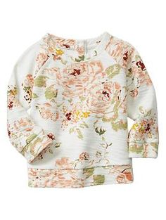 Floral sweatshirt top.  Adorable for baby girl!  #babygap