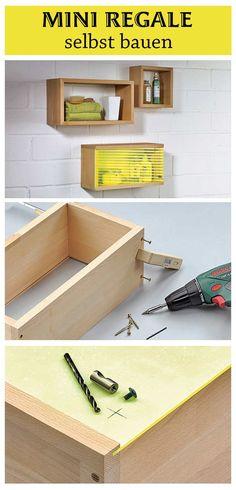 Stauraum kann man immer brauchen. Diese Mini Regale kann man in nur acht Schritten selbst bauen. Wir zeigen, wie es geht.