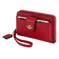 Coach Crossgrain Zip-Around Wallet for iPhone - Apple Store (U.S.)