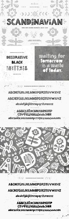 Scandinavian Font Family: 30% OFF by Favete Art on @creativemarket