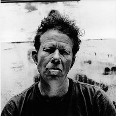 by Anton Corbijn - Tom Waits Clint Eastwood, New Rock Music, White Prints, Photographs Of People, Black And White Portraits, Rock And Roll, Portrait Photography, White Photography, Black And White