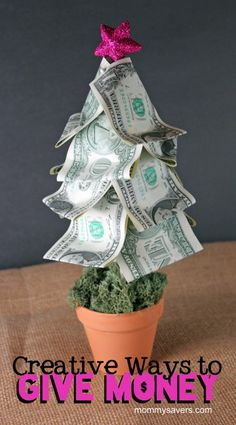 DIY Money Tree + other creative ways to give money | Mommysavers.com