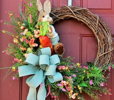 Hey, I found this really awesome Etsy listing at https://www.etsy.com/listing/265574898/bunny-wreath-easter-wreath-spring-wreath
