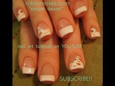 The best Simple Daisy Nail Art - Easy and Elegant :D