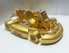 Coca-Cola Go Kart Gold Metal Racing Car Toy by mycoffeeboy