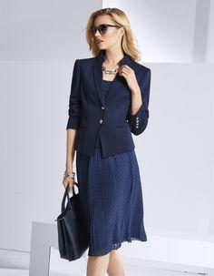 Henkeltasche aus Leder in der Farbe marine - navy, navyblau - blau - im MADELEINE Mode Onlineshop