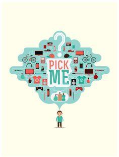 Pick Me Illustration by Leo9 Studio , via Behance