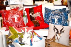 Christmas pillows are available in several different patterns and add brilliant color to any room! Different Patterns, African, Pillows, Room, Christmas, Products, Bedroom, Xmas, Rooms