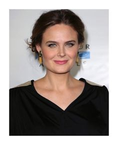 Emily Deschanel wearing House of Lavande Vintage earrings & ring to the Mercy For Animals Gala in LA