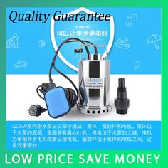 (70.00$)  Know more - http://aid4v.worlditems.win/all/product.php?id=32801275030 - QDS 8500L/H Portable Small Stainless Steel Submersible Pump 550W Big Power Centrifugal Water Pump