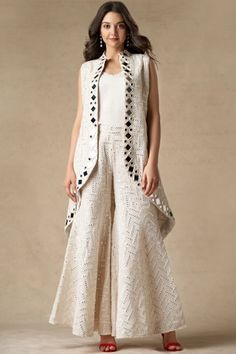 Shop Twenty Nine Mirror Work Jacket , Exclusive Indian Designer Latest Collections Available at Aza Fashions Indian Designer Outfits, Designer Dresses, Indian Fashion Designers, Stylish Dresses, Fashion Dresses, Stylish Dress Designs, Sleeves Designs For Dresses, Shrug For Dresses, Indian Gowns Dresses