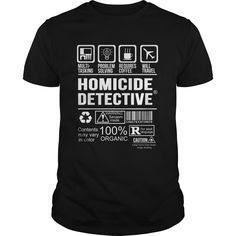 HOMICIDE DETECTIVE T-Shirts, Hoodies. BUY IT NOW ==► https://www.sunfrog.com/LifeStyle/HOMICIDE-DETECTIVE-125008746-Black-Guys.html?id=41382
