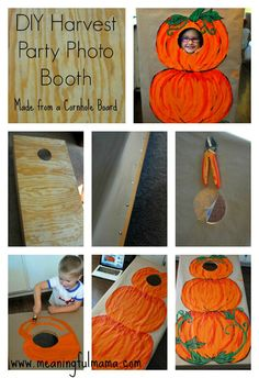 How to make a DIY Photo Booth - Harvest Party Ideas kidz booth at family fest Fall Harvest Party, Harvest Day, Harvest Games, Fall Photo Booth, Diy Photo Booth, Fete Halloween, Halloween Carnival, Halloween Games, Fall Birthday