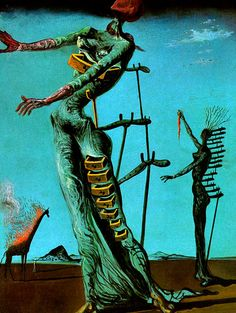 Salvador Dalí. The Burning Giraffe, 1937