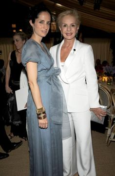 carolina herrera jr and her mom carolina herrera. i always loved the idea of making my daughter a junior. its so unique! (pretty dress too!)