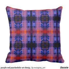 Discover Psychedelic pillows to accent your home. Browse our wide-range of designs on decorative & throw pillows and cushions or create your own pillows today! Compact Mirror, Psychedelic Art, Custom Art, Decorative Throw Pillows, Home Remodeling, Pattern Design, Canvas Art, Art Prints, Purple