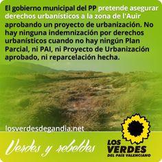Los Verdes denuncian que el gobierno municipal del PP pretende asegurar derechos urbanísticos a la zona de l'Auir aprobando un proyecto de u...