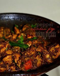 """South-Indian style Pepper Chicken Fry Recipe 