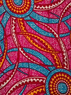 Super Wax Prints Materials 100 Cotton Fabric by Africanpremier, $29.99