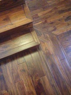 Custom Acacia Stairs