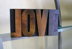 LOVE - Letterpress Wooden Printer Type