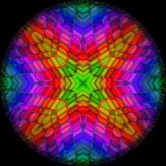 #Rainbow #Fractal Art Photo from the Instacanvas gallery for photobypixie.