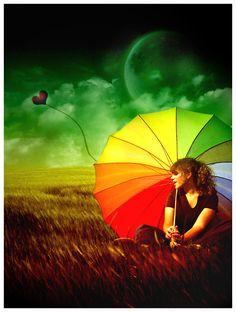 Rainbow Umbrella by Emindeath.deviantart.com on @deviantART
