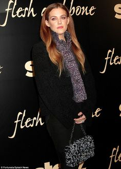 It's in the genes: Riley Keough, 26, was every inch the spitting image of her famous grandparents Elvis and Priscilla Presley as she attended a premiere in new York on Monday night