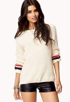 Open-Knit Raglan Sweater   FOREVER21 - 2078636015