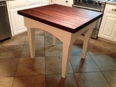 Butcher Block Kitchen Island Table
