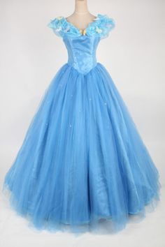 New-Disney-Movie-2015-Princess-Cinderella-Gorgeous-Dress-Made-Cosplay-Costume