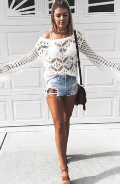 boho style obsession: top + shorts + bag