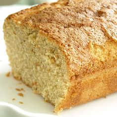 Dairy-Free, gluten free. Pound Cake! The secret?  Coconut milk and olive oil!