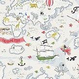Sanderson Treasure Map Vanilla / Multi Wallpaper