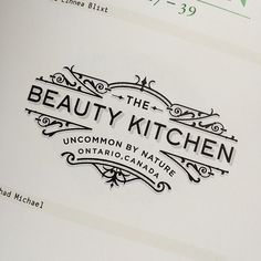 The Beauty Kitchen label concept by Chad Michael Studio  Line work, Clean typography