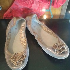 Lindsay Phillips ballet flats. Like New! Glittery bronze-colored leather upper. Only worn once. Shoes Flats & Loafers