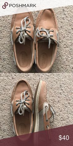 161d3e346 sperry boat shoes slip on worn once!