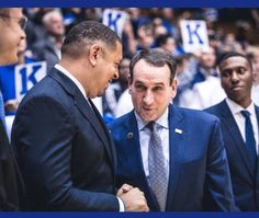 Coach Jeff Capel and Coach K