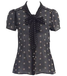 Little Scorched Almond Blouse in Black from Alannah Hill