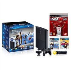 Sony 250GB Super Slim PS3 Limited Edition Move Bundle w/ NBA 2K14