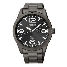 Seiko Seiko Core SNE343 Solar Men's Black IP Steel Watch