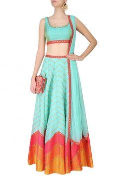 Gorgeous mint lehenga by Priyal Prakash #Frugal2Fab