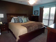 A Day in the Life of Mrs  J Hawk Brown and blue master bedroom ideas Bedroom Ideas Pinterest Blue Master Bedrooms
