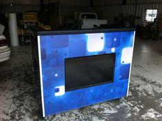 DIY mobile Dj booth idea  i like the tv idea