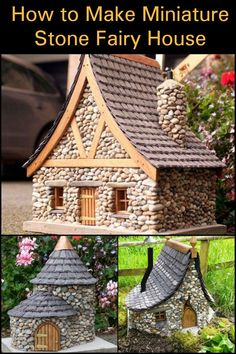 an enchanting fairy stone house in your yard! - Add an enchanting fairy stone house in your yard! -Add an enchanting fairy stone house in your yard! - Add an enchanting fairy stone house in your yard! Diy House Projects, Garden Projects, Garden Ideas, Fairy Furniture, Fairy Garden Houses, Fairy Doors, Miniature Fairy Gardens, Garden Crafts, Diy And Crafts